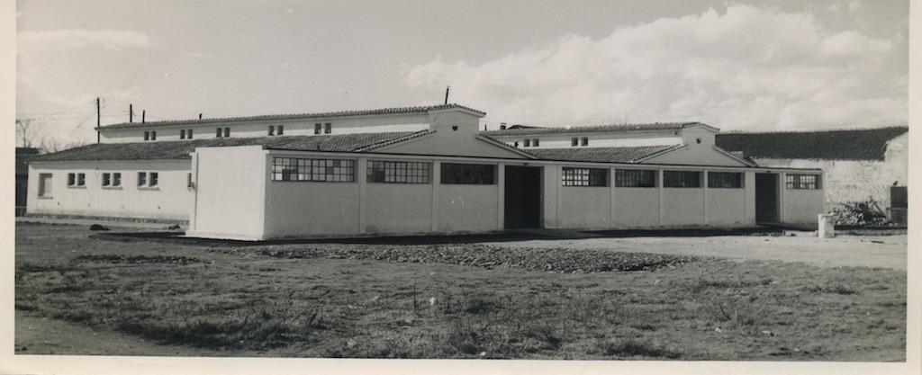 Κτηνιατρική Σχολή, κεντρική αυλή. Φωτογραφικό Αρχείο του Καθηγητή του ΑΠΘ Βασιλείου Κυριαζόπουλου (1903-1991), με την ευγενική παραχώρηση της Κεντρικής Βιβλιοθήκης του ΑΠΘ. Οι φωτογραφίες είναι των δεκαετιών 1950-1970.